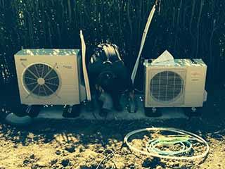 installation d'une pompe à chaleur.